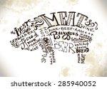 hand written lettering... | Shutterstock .eps vector #285940052