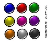 set of round buttons   Shutterstock . vector #28594201