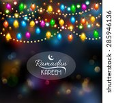 ramadan kareem background... | Shutterstock .eps vector #285946136