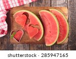 watermelon  healthy eating | Shutterstock . vector #285947165