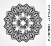abstract round ornament. ethnic ...   Shutterstock .eps vector #285951608
