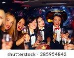 Group Of Happy Elegant Women...