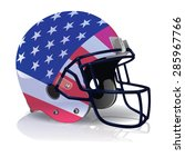 an illustration of an american... | Shutterstock .eps vector #285967766