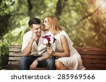 love and relationship concept.... | Shutterstock . vector #285969566