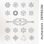 sacred geometry. alchemy ... | Shutterstock .eps vector #285983186