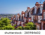 brick houses of muswell hill... | Shutterstock . vector #285984602