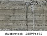 concrete wall with wooden... | Shutterstock . vector #285996692