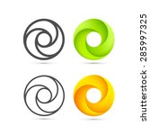 set of abstract infinite loop... | Shutterstock .eps vector #285997325