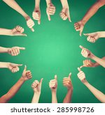gesture and body parts concept  ... | Shutterstock . vector #285998726