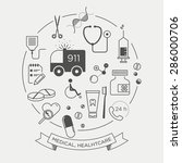 vector graphic icon set of...