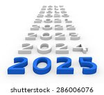 3d render new year 2025 and... | Shutterstock . vector #286006076