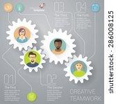 the teamwork vector infographic ... | Shutterstock .eps vector #286008125
