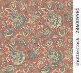 ethnic flowers seamless vector... | Shutterstock .eps vector #286009985