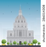 les invalides hospital and... | Shutterstock .eps vector #286014308