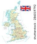united kingdom   detailed map   ... | Shutterstock .eps vector #286019792