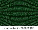 green glowing dna code... | Shutterstock . vector #286022138