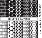 geometric vector pattern... | Shutterstock .eps vector #286023935