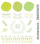 organic card. nature badge.... | Shutterstock .eps vector #286033655