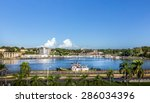 harbor of santo domingo in... | Shutterstock . vector #286034396