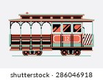 lovely retro three colored... | Shutterstock .eps vector #286046918