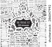 big set of vintage elements.... | Shutterstock .eps vector #286047992