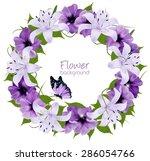 purple beautiful lily...