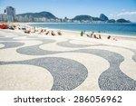copacabana beach rio de janeiro ... | Shutterstock . vector #286056962