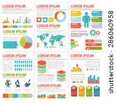 flat infographic elements set.... | Shutterstock .eps vector #286060958