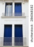 blue shutters france | Shutterstock . vector #286068182