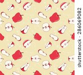 seamless pattern with  red... | Shutterstock . vector #286069082