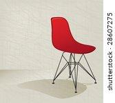 swanky retro red plastic mid... | Shutterstock .eps vector #28607275