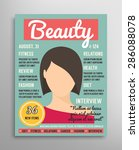 magazine cover template about... | Shutterstock .eps vector #286088078