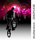 bmx rider | Shutterstock . vector #286091438