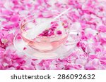 tea with rose petals in a glass ... | Shutterstock . vector #286092632