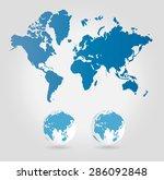 world map | Shutterstock . vector #286092848