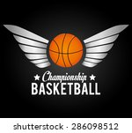 sport design over black... | Shutterstock .eps vector #286098512