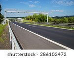 electronic toll gate over a... | Shutterstock . vector #286102472