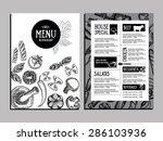 cafe menu restaurant brochure.... | Shutterstock .eps vector #286103936