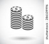 gambling chips. single flat... | Shutterstock .eps vector #286109996