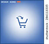 put in shopping cart. icon.... | Shutterstock .eps vector #286113335