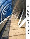 pedestrian bridge near the... | Shutterstock . vector #28611748