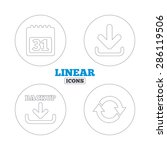 download and backup data icons. ...   Shutterstock .eps vector #286119506