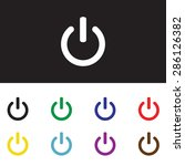 on off switch icon set for web  ... | Shutterstock .eps vector #286126382
