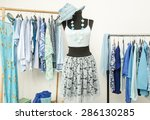 dressing closet with blue... | Shutterstock . vector #286130285