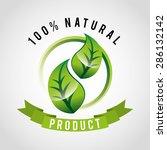 organic product design  vector... | Shutterstock .eps vector #286132142