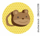 baby travel bear bag theme... | Shutterstock .eps vector #286141358
