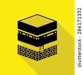 holy kaaba in mecca saudi... | Shutterstock .eps vector #286171352