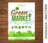 ecology green market invitation ... | Shutterstock .eps vector #286171808