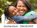 african american mother and... | Shutterstock . vector #286181405