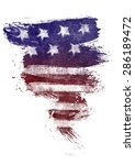 the usa flag painted on white... | Shutterstock . vector #286189472